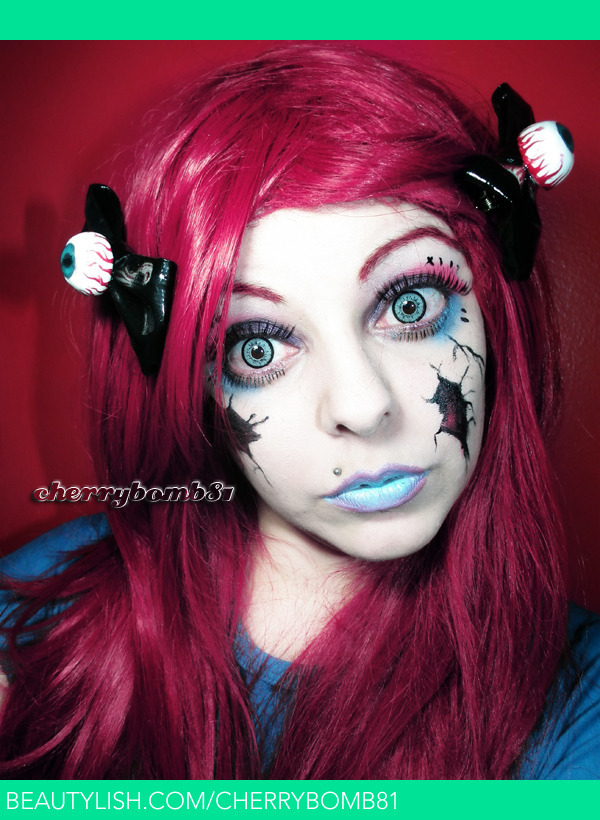 Halloween Makeup Look Broken Doll Cherry C S