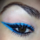 Summer bright color eyeliner