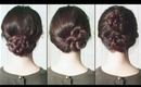 New Years Eve Updos - Fan Braid, Pretzel Bun, Double Peonies