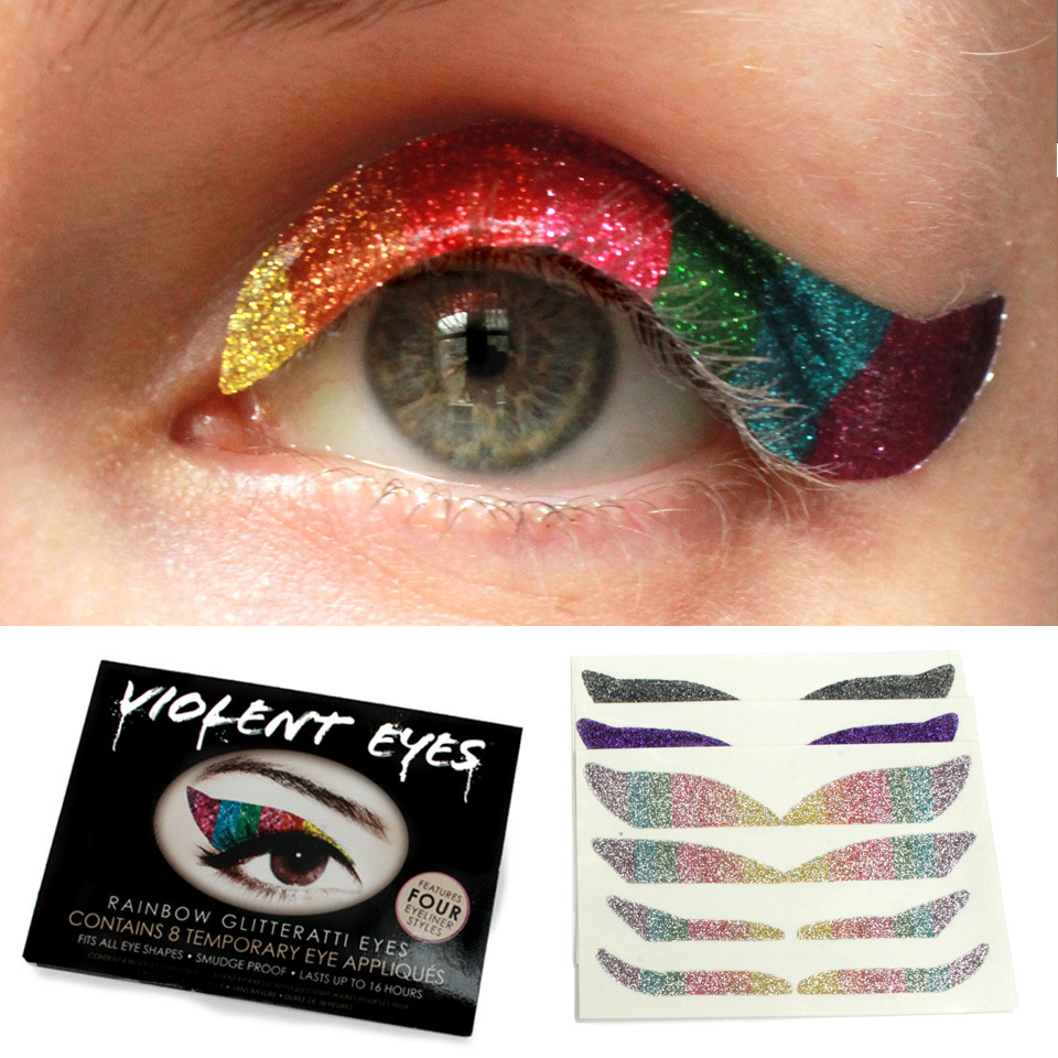 Temporary tattoos for your eyes beautylish for Eye temporary tattoo makeup