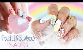 Pastel Rainbow Nails | Collab with FollowThatWay (Annabel) ♡