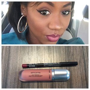 Revlon Ultra HS Matte LipColor ( seduction)  NYX LipLiner ( Plum