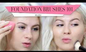 Foundation Brushes 101: Review & Demo | Milabu