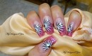 Hot, Pink Black and White Nail Art Design Tutorial - ♥ MyDesigns4You ♥
