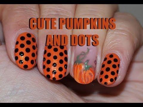 Cute Pumpkin Nail Design Lenysea Video Beautylish