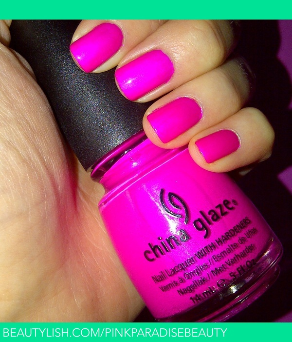 Bright Pink Nail Polish Colors: China Glaze - Purple Panic (Neon)