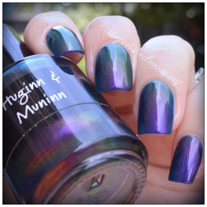Swatch of CrowsToes Huginn & Muninn on the blog today!! http://www.thepolishedmommy.com/2014/05/crowstoes-huginn-muninn.html
