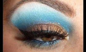 Bronze & Blue Tutorial w/ Glitter!