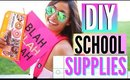DIY School Supplies + DIY Backpack & GIVEAWAY! Back To School 2015!