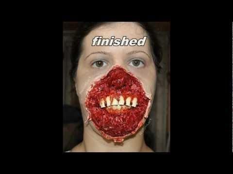 Halloween FX makeup - facial Skin ripped off   madamluck Video ...