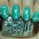 OPI Lights of Emerald City (Layered Over Zoya Wednesday)