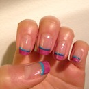 Color french nail