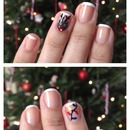 Christmas nails! Rudolph and Lights on a French Mani