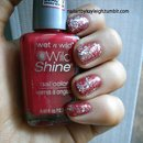 Red With Silver Glitter