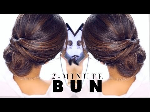 2 Minute Elegant Bun Hairstyle Easy Updo Hairstyles