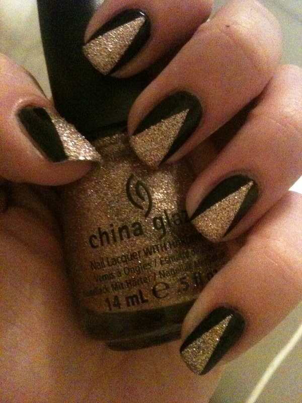 Black & Gold nail art | Paige H.'s Photo | Beautylish