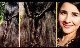 Easy Butterfly Fishtail Braid New Years Eve Hairstyle Tutorial