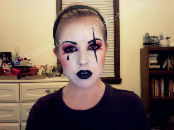 Harlequin Make-up Front View