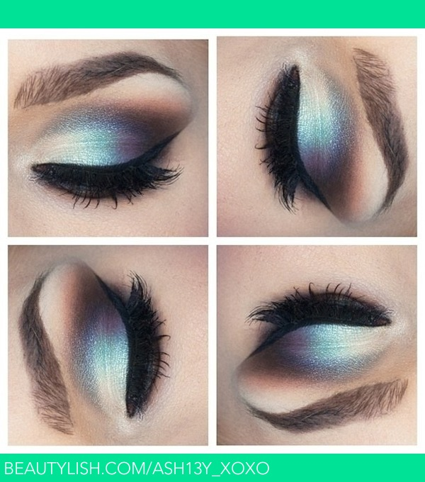 silver and blue eyeshadow ashley ss ash13yxoxo