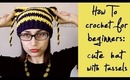 How To Crochet for Beginners: Hat with Tassels