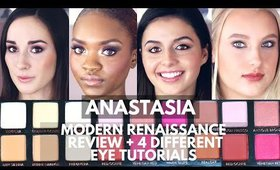 Anastasia Beverly Hills Modern Renaissance Eye Shadow Palette Tutorial/Review + 4 Easy Eye Tutorials