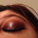 Glittery SFGiants inspired eye