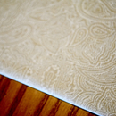 Fabric Detail: Beige & White Paisley