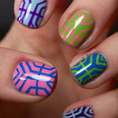 Colorful art deco inspired nails
