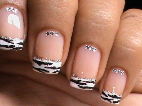French Manicure Nail Art Designs Zebra Dresslink Reiew How To
