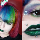 Simple Colorful and green lips