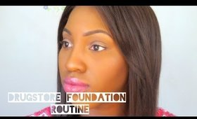Drugstore Foundation Routine