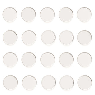 Empty Metal Pans 20 Pack - Round