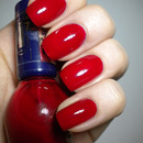 31 Day Challenge - Red Nails - 01. DAY