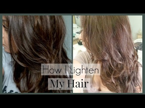 How I Lighten My Hair and Roots and Home │ How I Color My Dark Hair ...