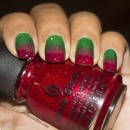 Holiday Poinsettia Inspired Nails