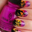 Tropical Sunset Nail Art