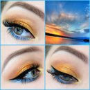 Shimmery sunset look