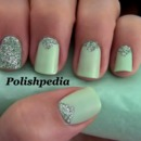 Mint Triangle Manicure