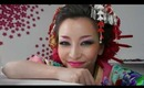 Coloful Geisha Look - Makeup & Hair Tutorial + How to wear Kimono