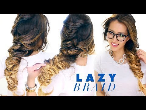 Lazy Girls French Fishtail Braid Hairstyle Cute Summer
