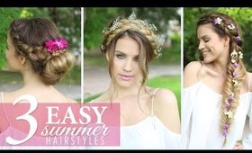 3 Easy HEATLESS Summer Hairstyles | Luxy Hair