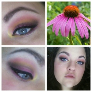 Even though there is snow all over the ground I still am thinking spring. I did this look based on my favorite flower.