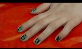 Crackle Nail Polish (St. Patrick's Day Look) Tutorial