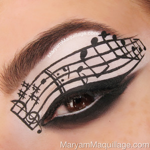 inspired by my nails of the week :) Details here: http://www.maryammaquillage.com/2013/04/eye-c-music-makeup-art.html