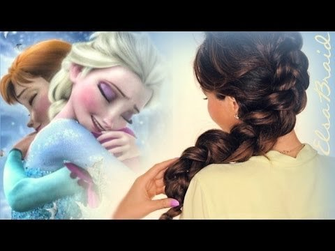 Admirable Frozen Elsa39S Quotinside Outquot Braid Hair Tutorial Cute Hairstyles Hairstyle Inspiration Daily Dogsangcom