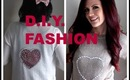 DIY FASHION (Valentines Day Inspired) - D.I.Y. Sweater Tutorial