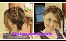 Easy Boho Braided Headband, Milkmaid Braids Hair Tutorial for Medium to Long Hair