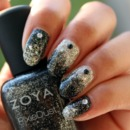 Silver & Black Chunky Glitter Gradient ♥