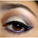 Purple double winged eyeliner look