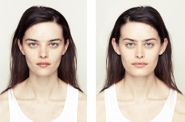 Facial symmetry and skin color